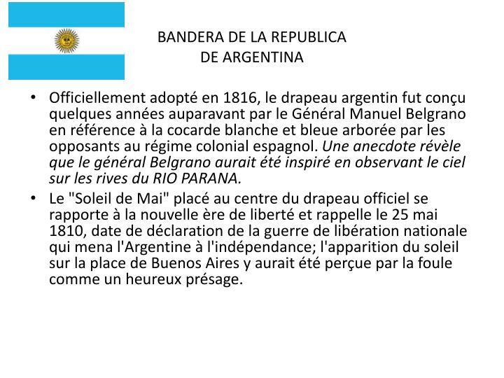 BANDERA DE LA REPUBLICA