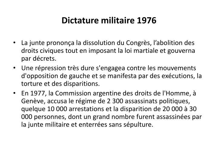 Dictature militaire 1976