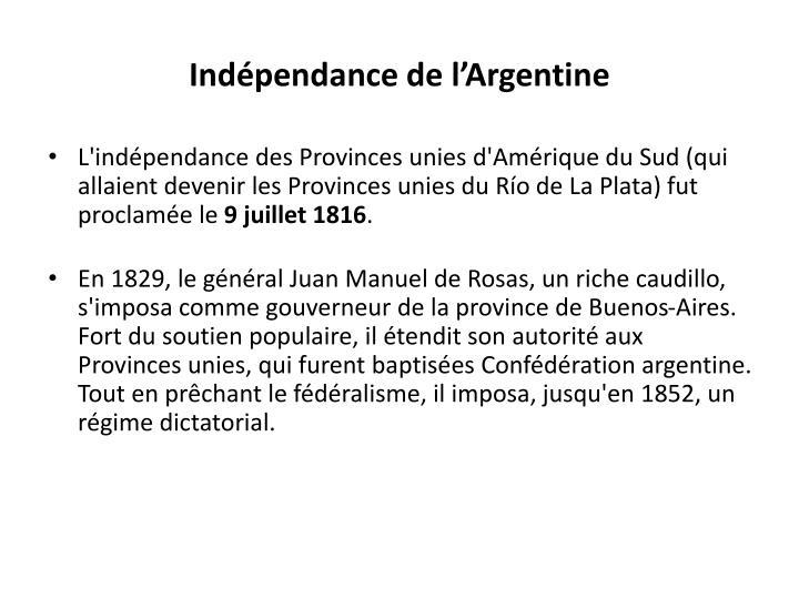 Indépendance de l'Argentine