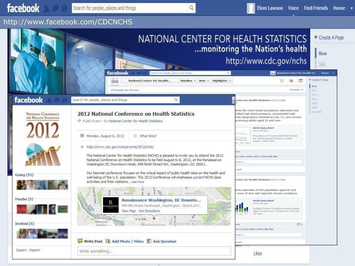 http://www.facebook.com/CDCNCHS