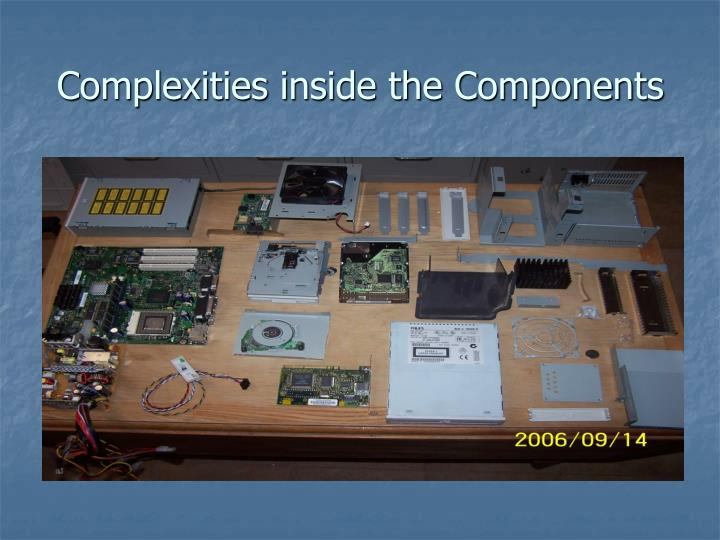Complexities inside the Components