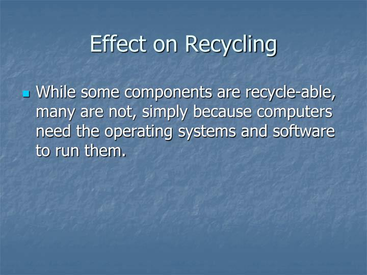 Effect on Recycling