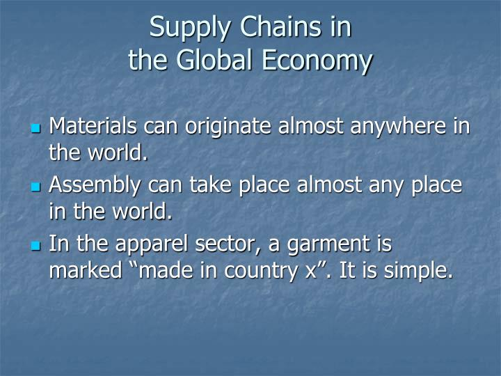 Supply Chains in