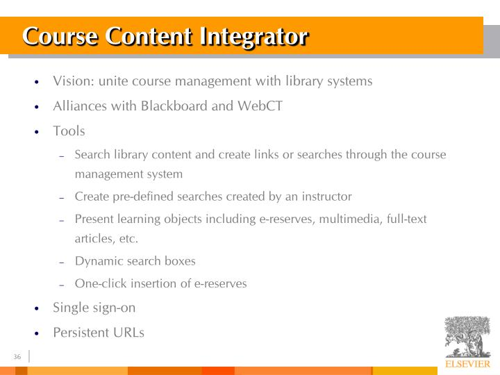 Course Content Integrator
