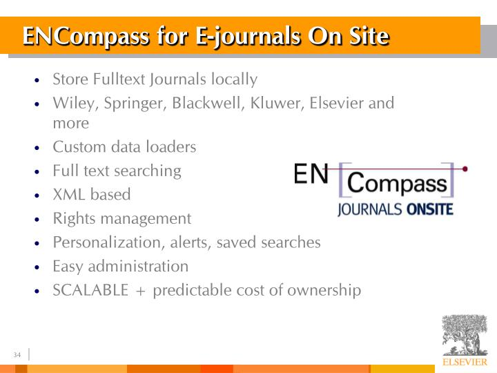ENCompass for E-journals On Site