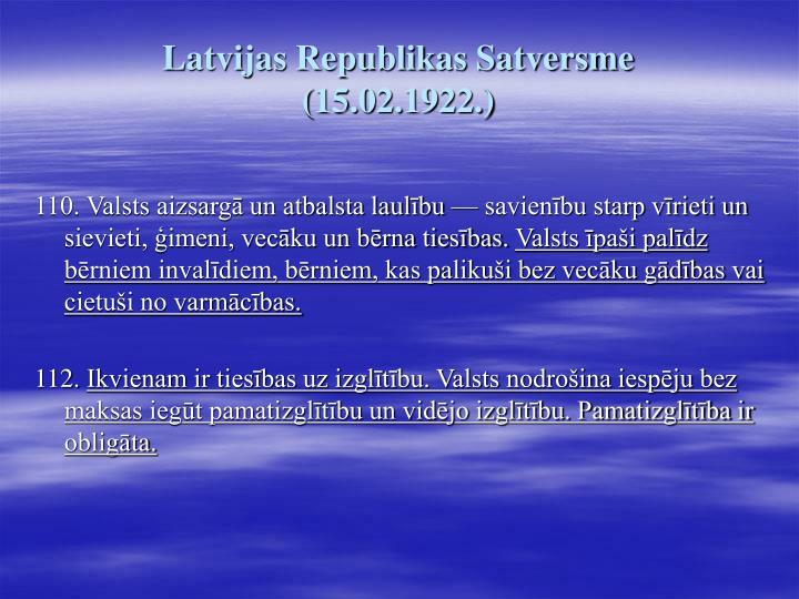 Latvijas Republikas Satversme