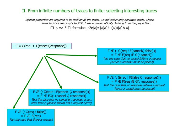 II. From infinite numbers of traces to finite: selecting interesting traces