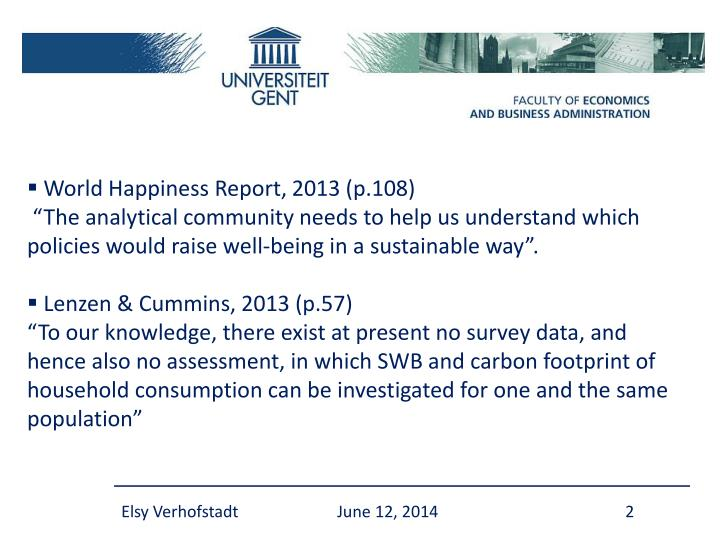 World Happiness Report, 2013 (p.108)