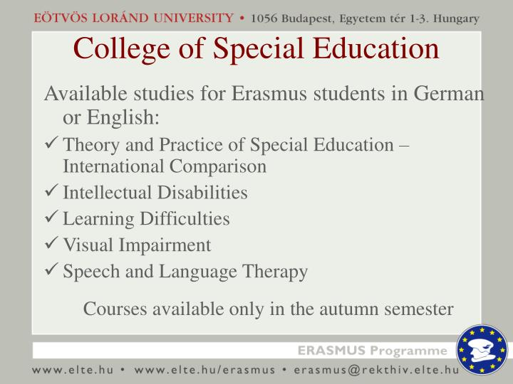 College of Special Education