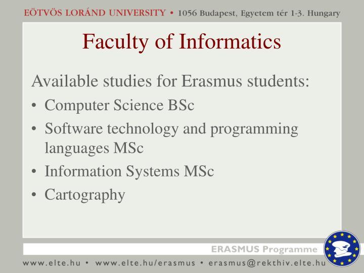 Faculty of Informatics