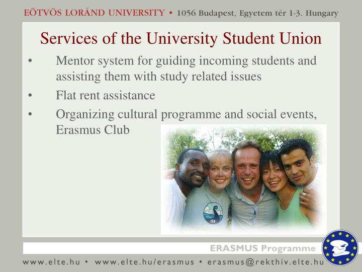 Services of the University Student Union
