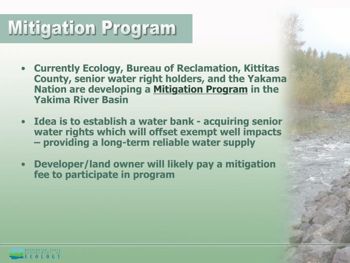 Mitigation Program