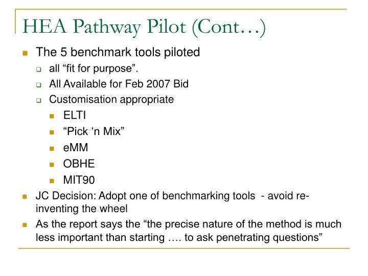 HEA Pathway Pilot (Cont…)
