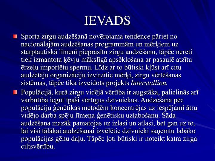IEVADS