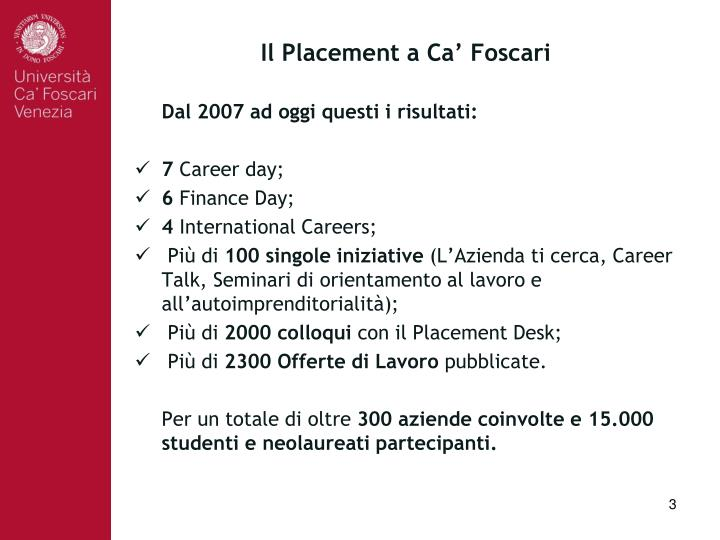 Il placement a ca foscari1
