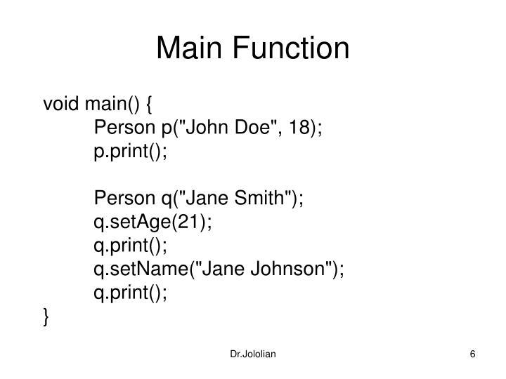 Main Function