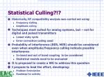 statistical culling