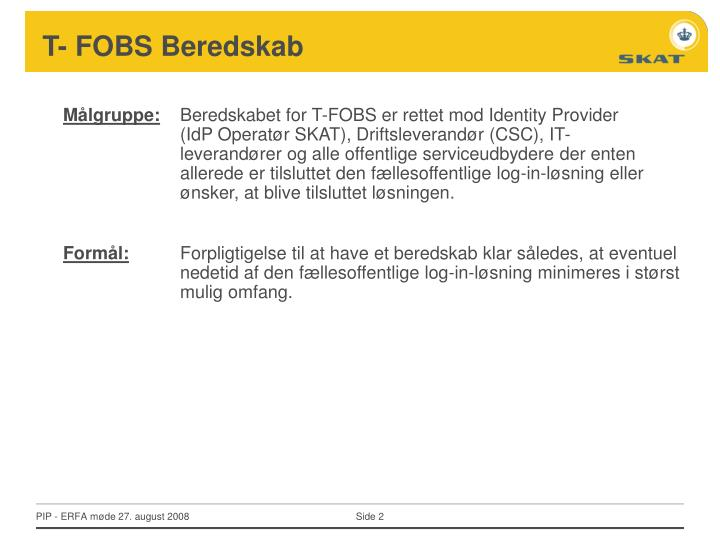 T- FOBS Beredskab