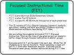 focused instructional time fit