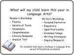 what will my child learn this year in language arts