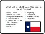 what will my child learn this year in social studies