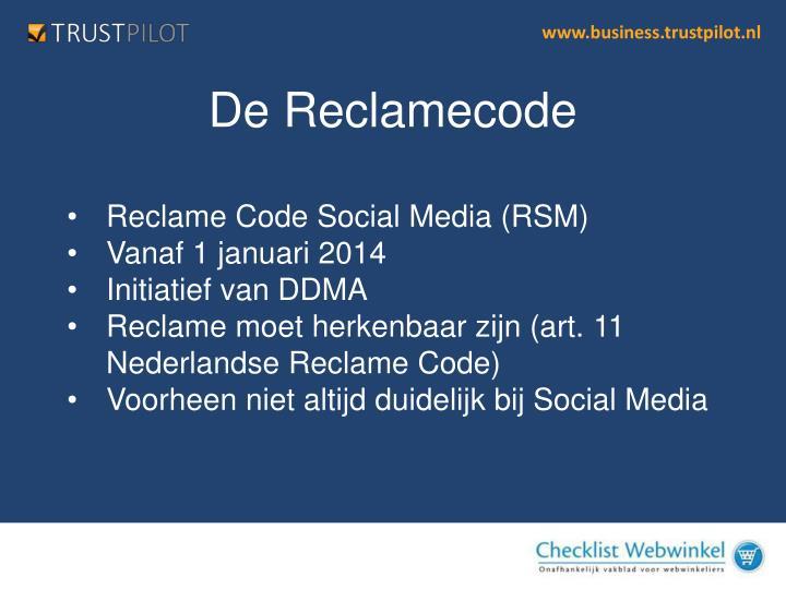Reclame Code Social Media (RSM)