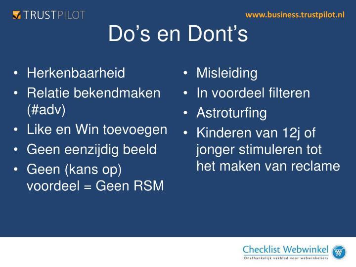 Do's en Don