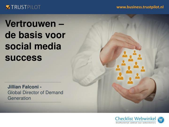 Vertrouwen – de basis voor social media success