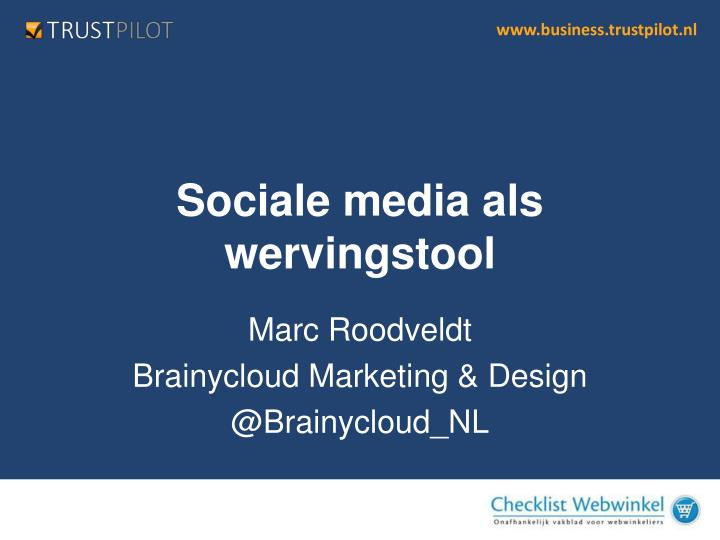 Sociale media als wervingstool