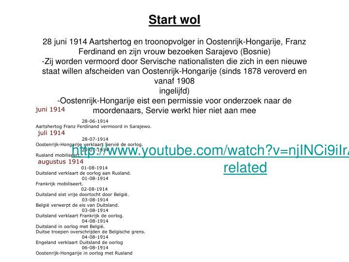 Start woI