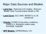 major data sources and models