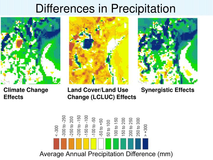 Differences in Precipitation