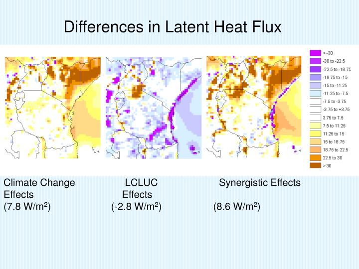 Differences in Latent Heat Flux