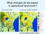 what changes do we expect in agricultural land cover