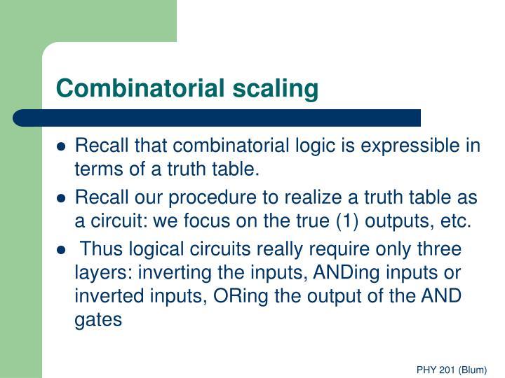Combinatorial scaling