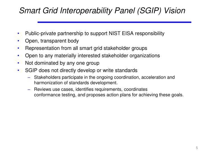 Smart Grid Interoperability Panel (SGIP) Vision
