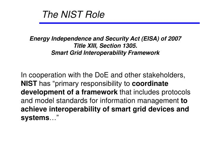 The nist role