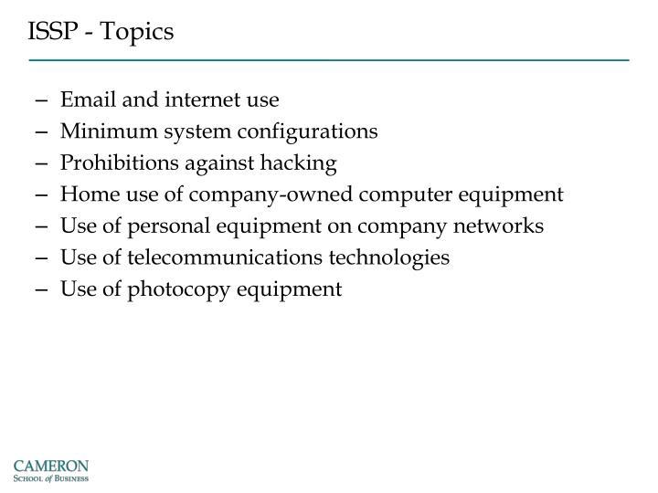 ISSP - Topics