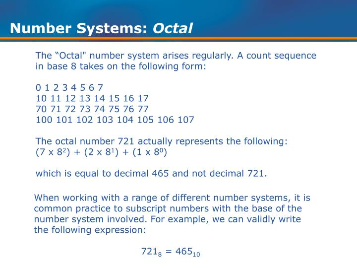 Number Systems: