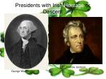 presidents with irish heritage or descent