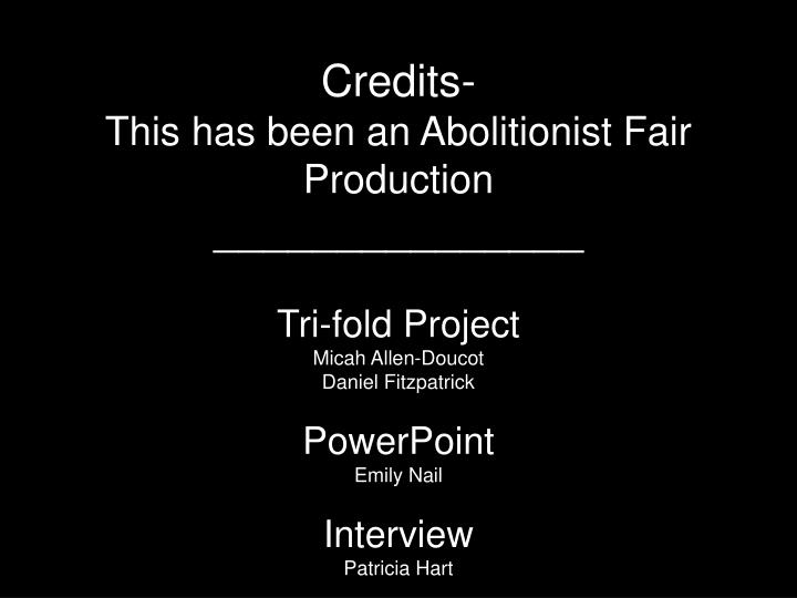 Credits-