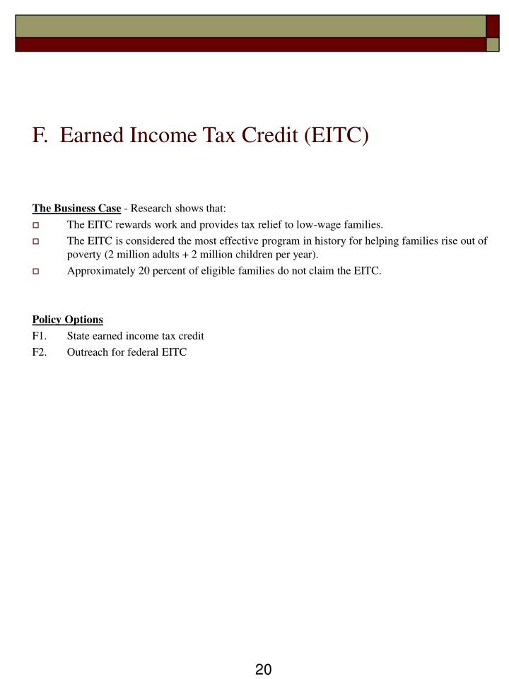 F.  Earned Income Tax Credit (EITC)