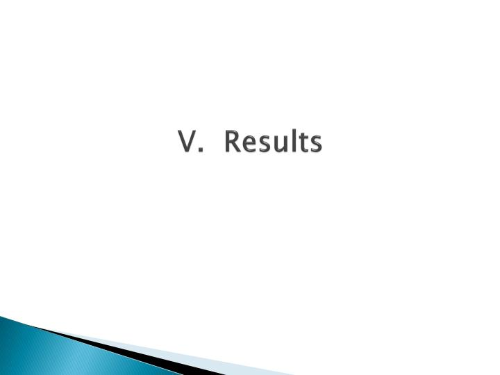 V.  Results