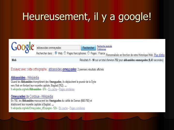 Heureusement, il y a google!