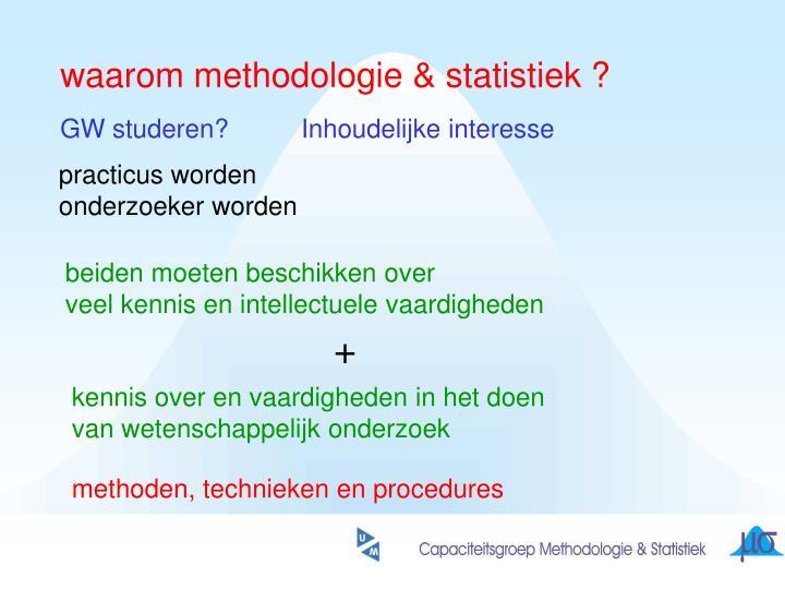 waarom methodologie & statistiek