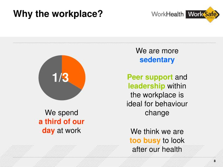 Why the workplace?