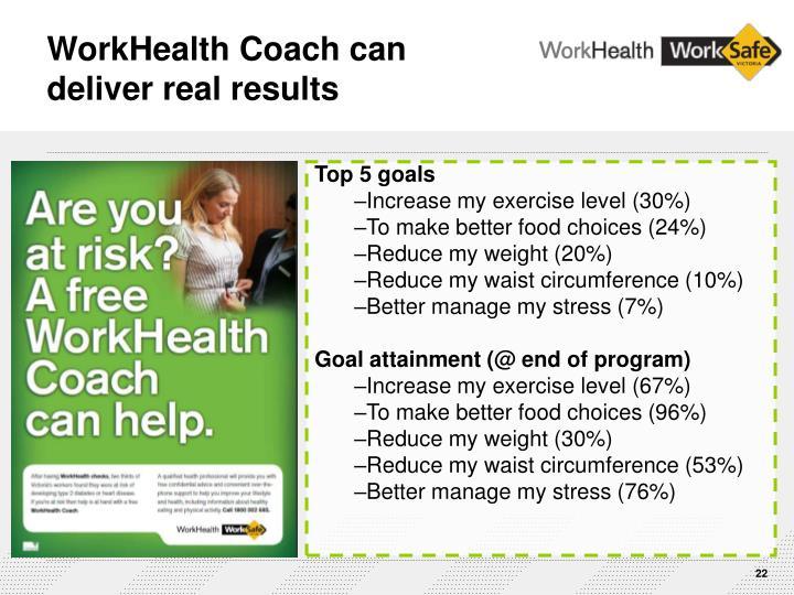 WorkHealth Coach can