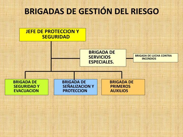 BRIGADAS DE GESTIÓN DEL RIESGO