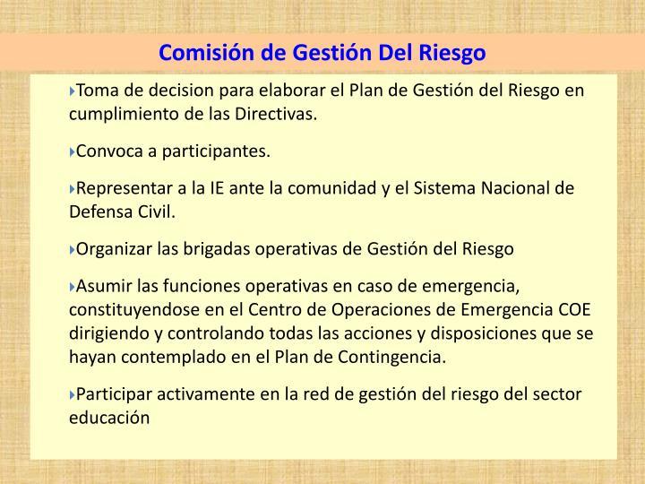 Comisión de Gestión Del Riesgo