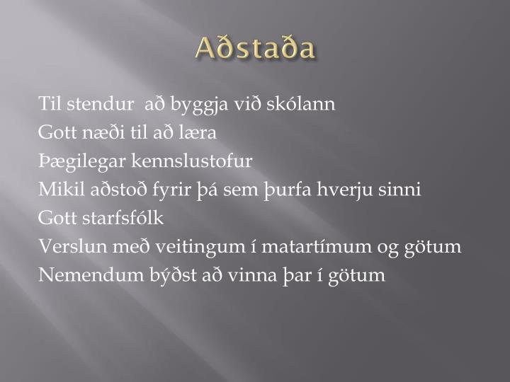Aðstaða